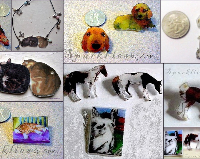 Custom Animal Portrait Jewelry