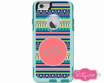 Aztec Tribal Monogrammed Otterbox Commuter Case for iPhone 6/6s PLUS, iPhone 6/6s, iPhone 5c, iPhone 5/5s, Galaxy S5, Galaxy Note 4