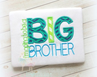 Big brother shirt - I'm going to be a big brother - promoted to big brother - pregnancy announcement - custom embroidered shirt