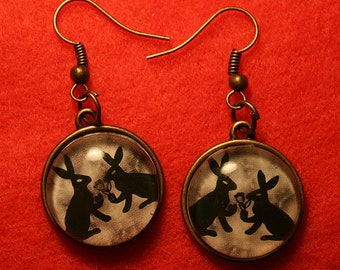 Nature Lover's Forest Bunny Rabbit Earring Set