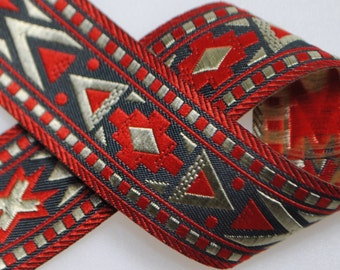 """Santa Fe Woven Jacquard about 13/16"""" wide - Two or Five Yards"""