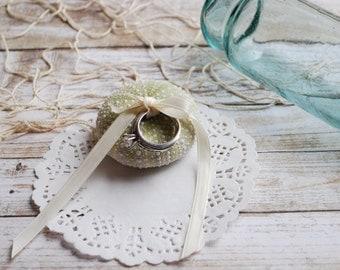 Beach Wedding Decoration Sea Urchin Ring Pillow Shell Ring Bearer Bridal Accessory