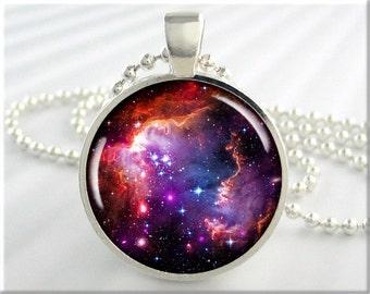 Magellanic Cloud Nebula Necklace Picture Pendant Space Nebula Resin Jewelry (686RS)