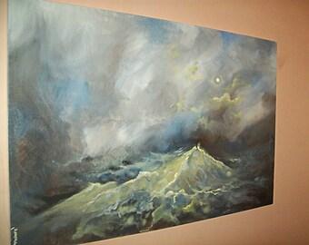 Original 36x24 Acrylic Seascape Painting #4
