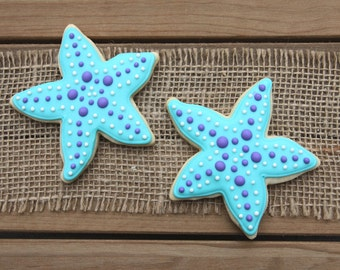 Starfish Cookies / Summer Party / Starfish Favor / Starfish Party / Beach Party / Pool Party / Starfish Decor / Under the Sea Party Favor