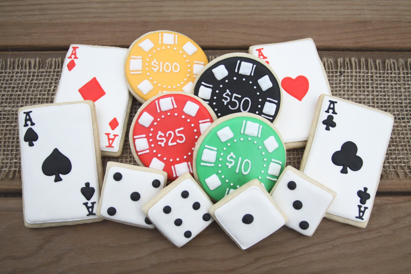 Casino themed party favors