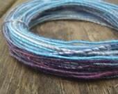 Fiber Wire Core Handspun Art Yarn 24 gauge wire Red Riding Hoods Wolf- Blue Belles