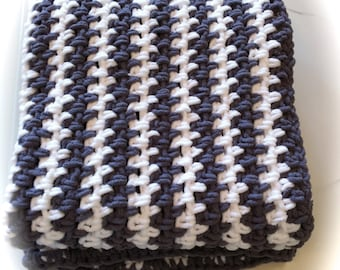 """Crocheted Blanket Sz 48""""x48"""" Choose Your Colors/ Throw Blanket / Easy Care / Perfect Size for Relaxing Time"""