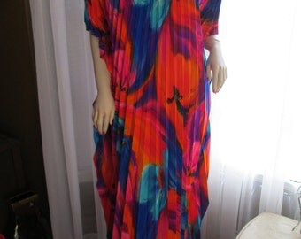 1970's Ladies Multi-Print Color Casual Hawaiian LOUNGER by Casual Ceire