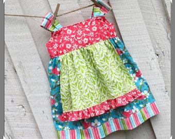 Josie.. Girl's Dress Pattern. Knot dress Sewing Pattern. pdf Sewing Pattern, Girl's Sewing Pattern. Toddler Dress Pattern. Boutique Pattern.