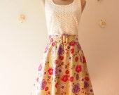 SALE- My Woodland Floral Dress Floral Green Floral Summer Dress Lace Dress Floral Tea Dress Bridesmaid Dress -Size XS-XL,Custom