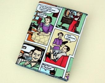 Stitched Journal / Notebook Cover, Pop Art, Lichtenstein