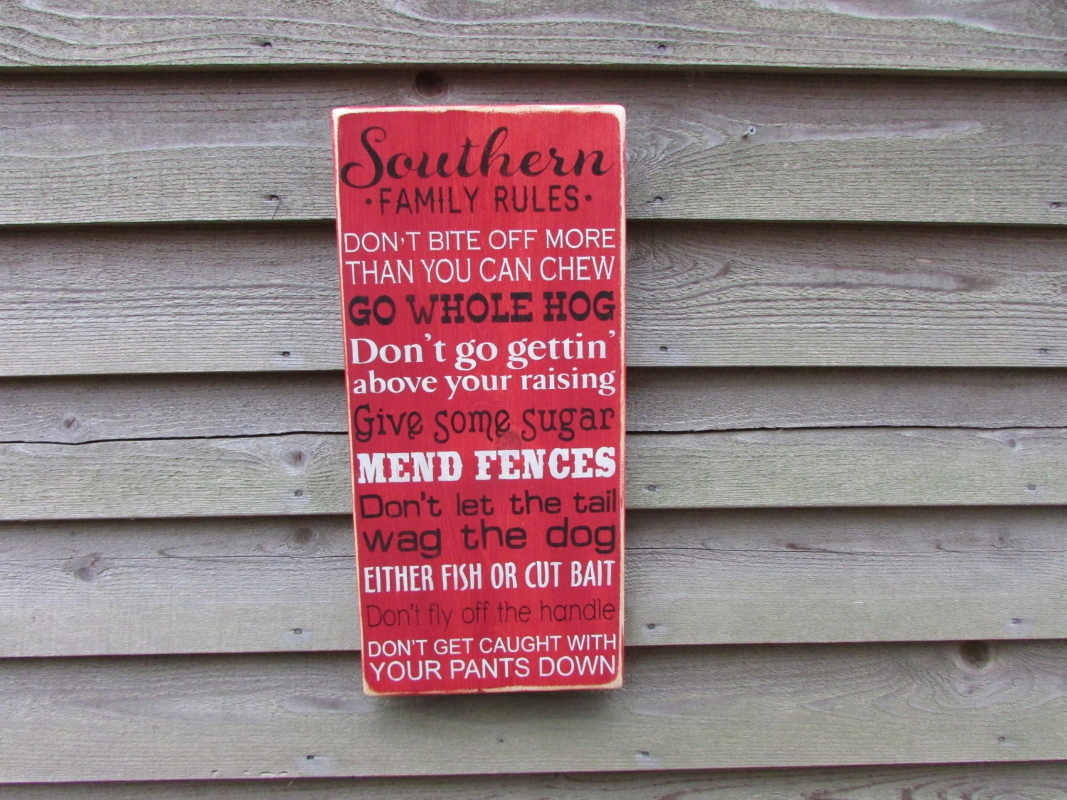Wood sign family rules house rules funny family rules zoom amipublicfo Images