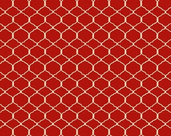 Fat Quarter, Chicken Fabric, Red Fabric, Chicken Wire, Bohemian Roosters by Wilmington Prints, Chickens, Kitchen Fabric, 10199