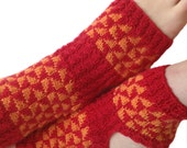Yoga Red & Orange Hand Knit , Knit Pilates Socks, PiYo Socks, Dance-Pedicure Socks, Hipster Socks, Boho Socks, Slipper Socks MADE TO ORDER