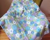 Vintage Mod Hippie Print  Blanket - Circa 1970 - Bedding - Size  84'' x 72''