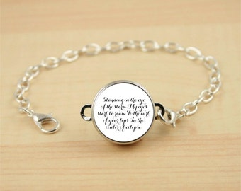 Custom Quote Bracelet, Personalized Jewelry, Poem or Song Lyrics