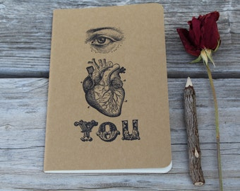 I Heart You Anatomical Romance Journal Valentines Day I love You