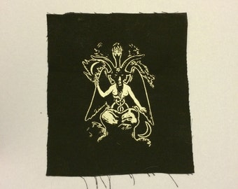 Silver Baphomet Patch