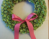 Custom Paper Flower Wreath