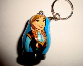 Anna (Frozen) Doll Key Chain