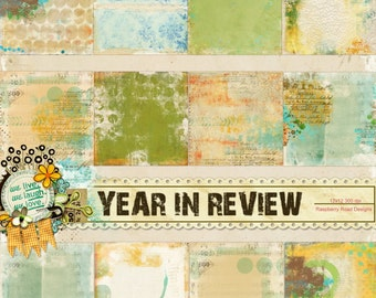 Year In Review Altered Paper Set