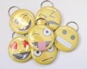 Set of 6 Emoji Bottle Openers/Key Chains