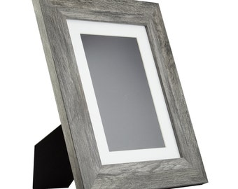 craig frames 85x11 inch modern gray standing picture frame mat with 6x9 inch single opening bauhaus 2 wide 740308511easel1