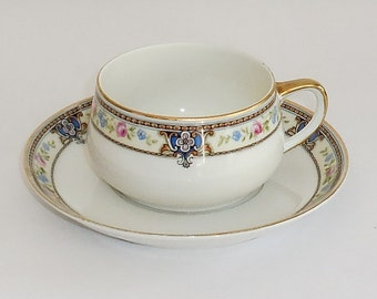 2 Sets Cups & Saucers Paul Muller The Turin Selb Bavaria Porcelain