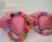 Star Shaped Bubblegum Bath Bomb with Bracelet Inside