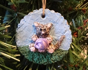 Kitty Cookie Critter Ornament