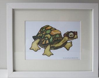 Speedy Turtle Print ~ 5x7 // 8x10 ~ Baby Kids room decor