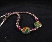 Kazuri bead Hand beaded necklace, Kazuri African bead necklace, hand beaded necklace, Kazuri necklace