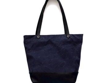 CORTES TOTE bag with ZIPPER, Tote Bag with zipper, Waxed Canvas Bucket Bag, Canvas Bag, Diaper Bag for Boys, Canvas Tote Bag, Diaper Bag,