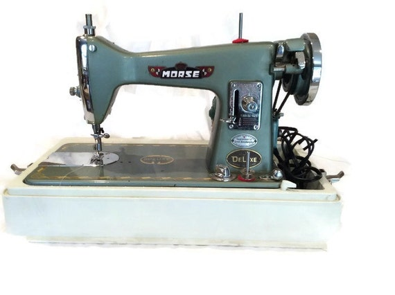 items similar to vintage morse 300 deluxe sewing machine on etsy. Black Bedroom Furniture Sets. Home Design Ideas