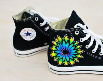 Sacred Geometry Converse - Custom Hand Painted Sneakers