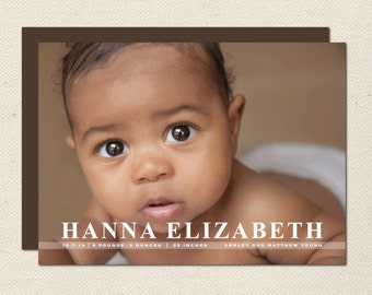 Birth Announcement Photography Template - 0002 - Photoshop Template
