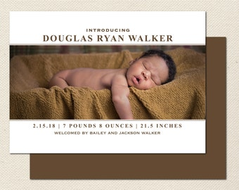 Birth Announcement Photography Template - 0011 - Photoshop Template