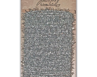 Tim Holtz Idea-ology Silver Tinsel Twine 6 Yards for Packaging