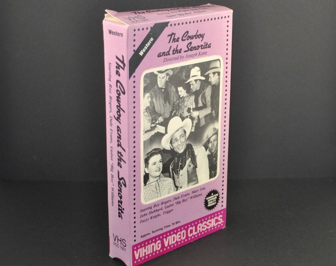 Vintage The Cowboy And The Senorita VHS Tape - 1942 Remake - Roy Rogers - Dale Evans - Movie - MGM - Comedy - Western - Musical - VCR