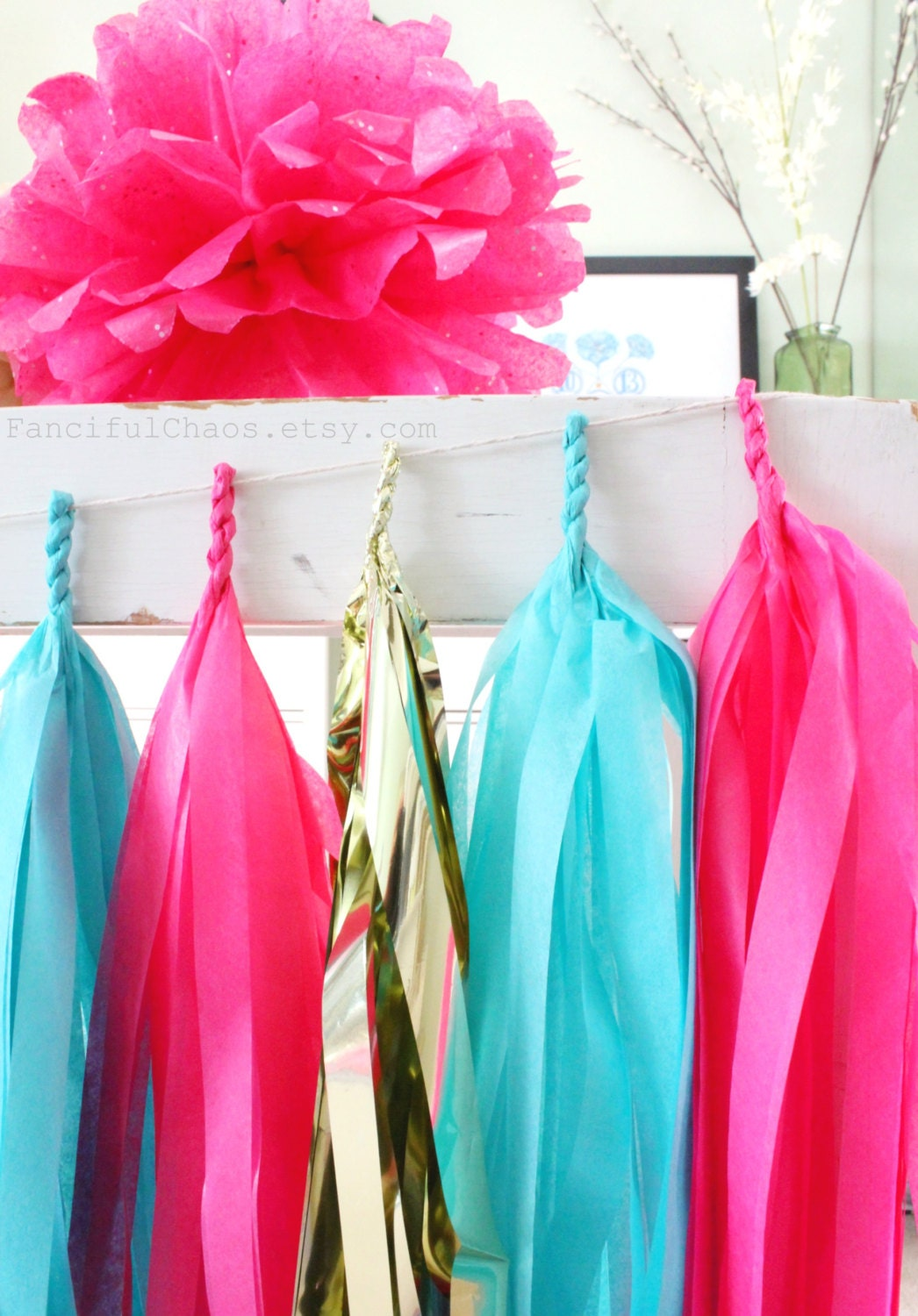 turquoise tissue paper Mermaid party decorations wedding party decorations purple lavender turquoise blue tissue paper pom poms flowers paper flower balls paper lanterns boys birthday party.