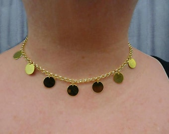 GYPSY  HOLIDAY  Golden Coins Choker