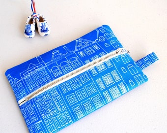 Zippered Pencil Case Dutch Houses - Zip Pouch
