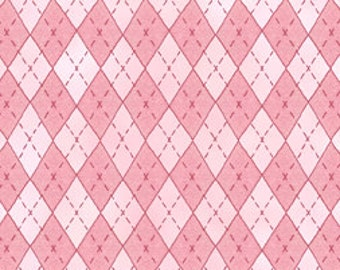 Butterfly Hollow by In The Beginning Fabrics - Argyle Pink (6MCB1) - 1 yard