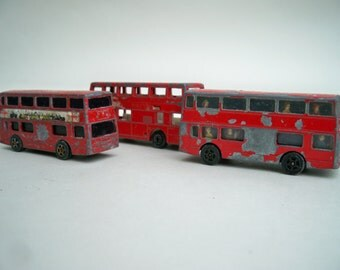 Instant collection of toy London Buses, red buses