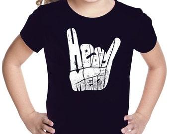 Girl's T-shirt - Heavy Metal