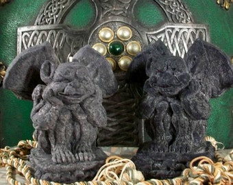 BLACK Palm Wax Gargoyle Candle Dragons Blood Scented