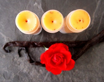 Organic Lip Balm - The Wild One - Wild Rose and Vanilla Bean Lip Balm