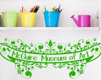Personalized Art Gallery Wall Decal, Children's Art Wall Decal,Kid's Art Museum Vinyl,Museum of Art Decal,Family Name Decal