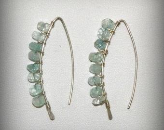 Aquamarine Sterling Silver Earrings